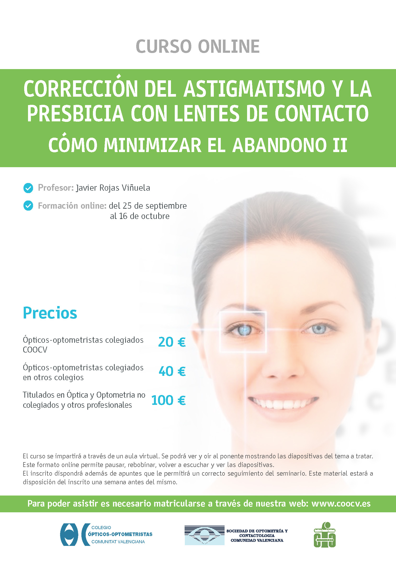 Corrección del Astigmatismo y la Presbicia con lentes de contacto